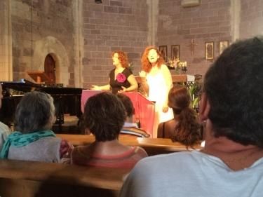 Sílvia Gil y Charo García, veu. Cecilio Tieles, piano. Prades, Església