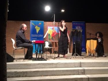 Laia Masdeu, veu i Marc Torres, piano. Vila-seca, Biblioteca.