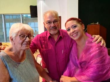 Festival de habaneras de La Habana. Zoila Lapique, Johana Simón, Cecilio Tieles. Después del Coloquio, Concierto 5 de noviembre 2019, Colegio universitario San Gerónimo, La Habana, Cuba