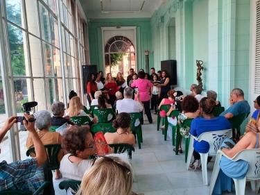 """Festival de habaneras de La Habana. Coro """"Vocal Leo"""", Corina Campos, Directora, Concierto 7 de noviembre 2019, Museo de Artes Decorativas, La Habana, Cuba"""