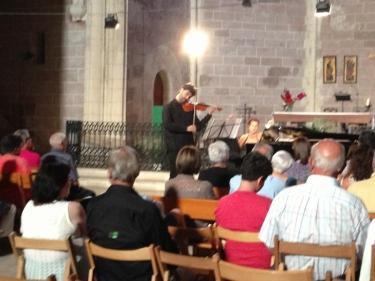 Josep M. Ferrando, violí i Marc Torres, piano. Prades, Església