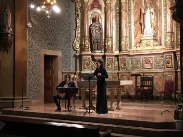 DÚO A1VEU. Alba Fortuny, veu i Irene López, guitarra. Església Sant Nicolau, La Riba.