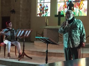 Jean-Paul Martin y Doris Stiegler (Francia). Iglesia de Paula, La Habana, Cuba. 13 de diciembre 2018
