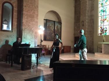 Trío Ibérico (Indira Ferrer-Morató, Manuel José Ruiz Segarra, Carlos Murias). Iglesia de Paula, La Habana, Cuba, 13 de diciembre 2018.