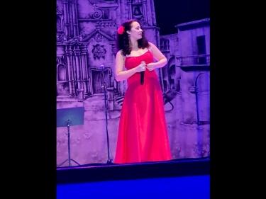 Festival de habaneras de La Habana. Rachel Valladares, Gala Clausura 9 noviembre 2019, Teatro América, La Habana, Cuba