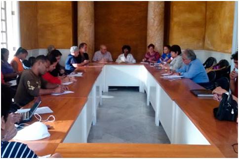 Conferencia de prensa del Primer Encuentro Conocer la Habanera 2017, celebrada en la sede del Instituto Cubano de la Música.